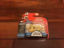 World of Nintendo Super Mario Bros U Micro Land 1-1 BOWSER Koopa Troopa 3 Pack