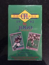 1992 JOGO CFL FOOTBALL FACTORY SEALED BOX