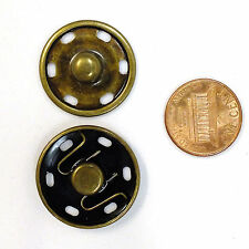 New Sew-On Snaps Fasteners Size:25mm 144 sets package, Color: Antique Brass