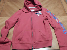 Women's Hollister zipper hoodie hooded long sleeve sweatshirt size L Red Used