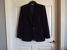 EUC J.G. Hook womens 12 100% wool navy blazer.  great for the workplace !!