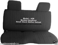 A25 DELUXE Triple Stitched 8mm Thick Pickup Truck Full Bench BLACK Seat Covers