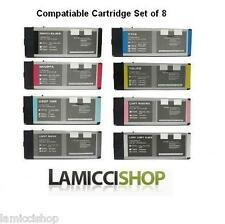 Wide Format Ink 8 Cartridges Set Compatible for Epson Stylus Pro 4800 Pigment