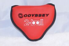 NEW Odyssey red 2 Ball/#7 mallet putter heel/center shaft head cover headcover
