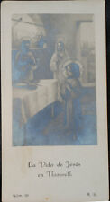 OLD BLESSED THE LIFE OF JESUS HOLY CARD ANDACHTSBILD SANTINI IMAGE PIEUSE CC537