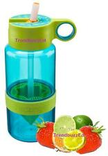 BLUE Kid Zinger Citrus Zinger for Kids Water Bottle WITH Straw Zing Anything