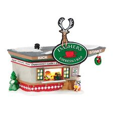 Dept 56 North Pole - Dasher's Kick Start Espresso - Display- Free Shipping