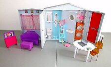 Barbie Totally Real Smart Fold Up House Sounds Food Furniture  Mattel Lot F3