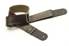 """IBOX Synthetic Brown Leather Guitar / Bass Strap - 2""""W Exceptional Quality!"""
