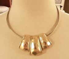 Jones New York necklace four strands gold tone choker $38 price tag new in bag