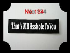 That`s Mr.Asshole To You,Helmaufkleber,Helmet Decal,USA,Helm,Öltank,Biker,Harley