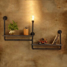 Industrial Retro Water Pipe Bookshelf  Wall Sconce Lamp Lighting Cafe Shop Bar
