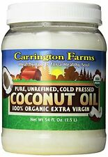 Carrington Farms 100% Organic Extra Virgin Coconut Oil, 54 Ounce Gluten-Free