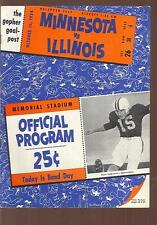 1954 University of  Illinois Illini at Minnesota Golden Gophers Football Program