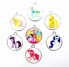 20pcs My Little Pony Enamel Metal Charms Jewelry Making Pendants P207