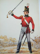 MILITARY POSTCARD- LT,BN COMPANY ROYAL REGT OF FOOT 1815 DOUGLAS N ANDERSON
