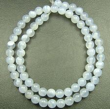 """16"""" NATURAL BLUE Chalcedony Round ~68 Beads 6mm K2312"""