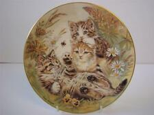 ROYAL WORCESTER WHOOPS-A-DAISY DOGS AND CAT PLATE PAM COOPER