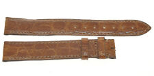 Cartier, 100% original Brown crocodile strap 17mm (16mm buckle) New