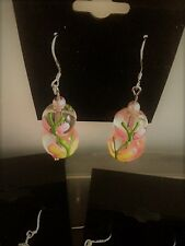 Butterfly Glass Earrings, Drop Earrings, Mothers Day, Easter - only 1 available!