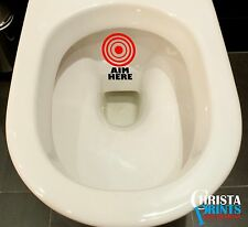HIT THE TARGET AIM Toilet Funny Sticker Bathroom Decal Vinyl Wall Art
