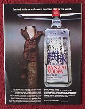 1981 Print Ad Old Suntory Japanese Banzai Vodka ~ Creating The Samurai Sword