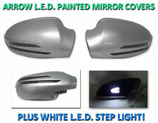 USA 98-02 W208 CLK Arrow LED Side Painted Silver Mirror Cover+LED Step Light 2D