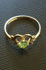 Estate 10k Yellow Gold Heart Emerald Ring