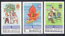 Mongolia 1975 Pioneros/Juventud/árbol plantar/Educación/Avión/Emblema 3v Set n38847