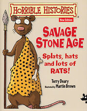 Horrible Histories Savage Stone Age BRAND NEW BOOK by Terry Deary (P/B 2014)
