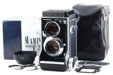 *MINT* Mamiyaflex C2 TLR Camera + 105mm F3.5 Lens w/Box Case Hood from Japan