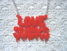 LOVE SUCKS LASER CUT VAMPIRE BLOOD NECKLACE RED ... EMO  GOTH  ZOMBIE