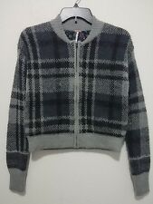 Free People Oh My Plaid Sweater Jacket In Gray Combo Retail $168 Size XS