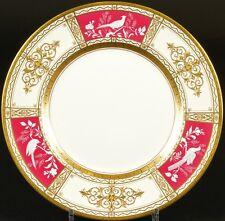 13 Minton Pâte-sur-Pâte Service Plates,gilded, hand-painted, artist signed