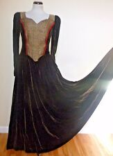 Vintage Handmade Heavy Velour Quality Dress Gown Costume Renaissance sz S Small
