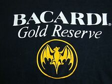 Vintage Bacardi Gold Reserve Rum Liquor beer College Party Thin T Shirt S