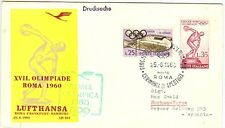 Italy Olympische Spiele Olympic Games 1960 Olympic flight Rome - Hamburg