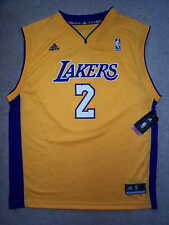 ADIDAS Los Angeles Lakers DEREK FISHER nba Jersey YOUTH KIDS BOYS m-medium