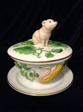Le Cordon Bleu Franklin Mint Covered Serving Bowl - Sweet Pig Lid Finial