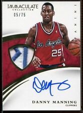 2014-15 Immaculate Collection Patches Autographs Danny Manning Patch Auto 5/75