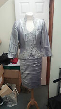 Ian Stuart Mother of the Bride ISL469 Grey Pearl Size 16 BRAND NEW £1510