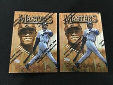 2 KEN GRIFFEY JR TOPPS FINEST 1997 W/ PROTECTOR FILM SEATTLE BASEBALL CARDS