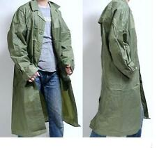 MENS MILITARY RAIN COAT MAC FESTIVAL LONG JACKET ARMY WATERPROOF