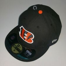 Cincinnati Bengals NFL New Era 59Fifty Fitted Cap Hat Mens Size 8 Black New