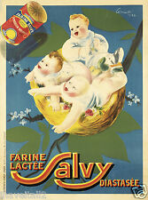 Farine Salvy Advertising Poster for Baby Formula 1926 13 x 17 Giclee Print