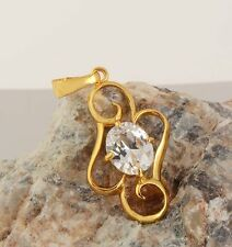 For Long Chain Necklace 18K Yellow Gold Filled crystal Crystal Womens Pendant