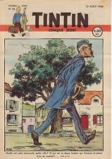 TINTIN 1948 n° 33 couverture Husy TBE