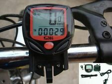 Waterproof LCD Cycling Bike Bicycle Pedometer Speedo speed Speedometer NEW