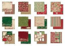 Bo Bunny * REJOICE * 12 x 12 CARDSTOCK COLLECTION * Christmas Holiday Papers