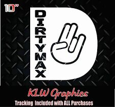 Dirtymax Shocker D * vinyl decal sticker Duramax Diesel Truck Crew Cab 2500 3500